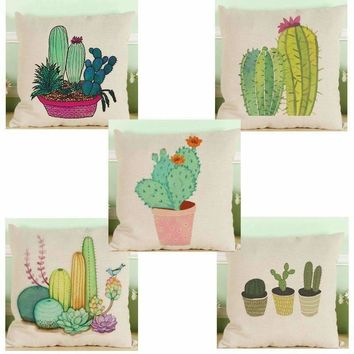 Colorful Cactus Pillow Covers