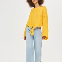 TALL Knot Front Top - Tops - Clothing
