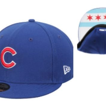 Mens Chicago Cubs City Factor Chicago Flag 59FIFTY Fitted Hat By New Era