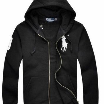 ICIKW NEW RALPH LAUREN MEN'S POLO HOODIE FLEECES JACKET COAT