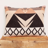Geometric Wool Pillow // Triangle / Rose White by ScoutandWhistle