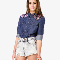 Western Chambray Shirt | FOREVER 21 - 2000050029