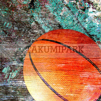 Contemporary Basketball Photo Art Print, Sports Wall Decor, Bball Art, Urban Art, Street Artwork, Basketball Print, Sports Decor, Homedecor
