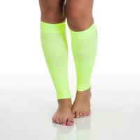Remedy Calf Compression Running Sleeve Socks - Small-Neon