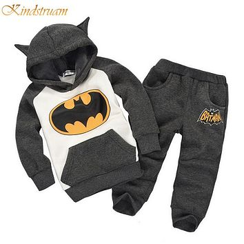 New Arrival Batman girls & boys clothing sets spring & autumn kids cotton sports clothing suits child twinsets