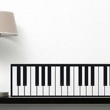 Wall Vinyl Sticker Decal Stylish Piano Keys Black White Music Notes Unique Gift (n109)