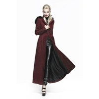 Corseted Little Red Riding Hood Full Length Gothic Winter Coat Plus Sizes