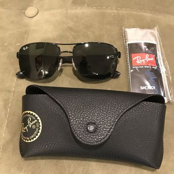 Rayban Authentic Black Italy RB3533 Sunglasses 57MM