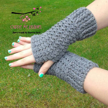 DAKOTA FINGERLESS Gloves Crochet Pattern - PDF