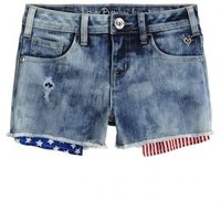 Printed Pocket Bag Denim Shorts | Girls Shorts Clothes | Shop Justice