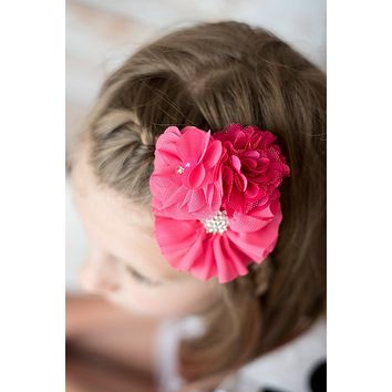 Hot Pink Clip Girls Birthday Gift