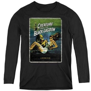 Creature from the Black Lagoon Womens Long Sleeve Movie Poster Black