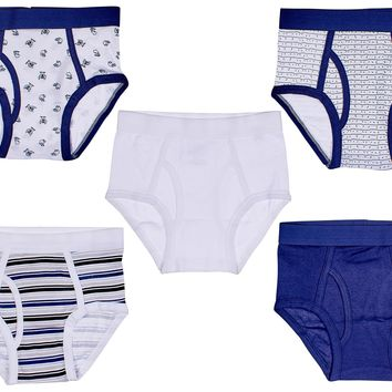 5-Pack Hairy Monster Boys 100% Cotton Briefs Underwear