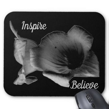Charcoal Wildflower Inspire Mouse Pad