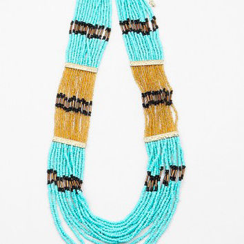 Multistrand Beaded Turquoise Necklace