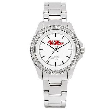 Ole Miss Rebels Ladies Glitz Sport Bracelet Watch by Jack Mason - FINAL SALE