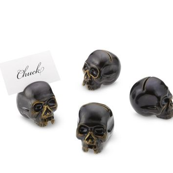 Halloween Skull Place Card Holders, Set of 4