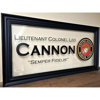 Military Gifts,US Marines,Custom Family Gift,Marine Corps Gifts Hand Made By Veterans