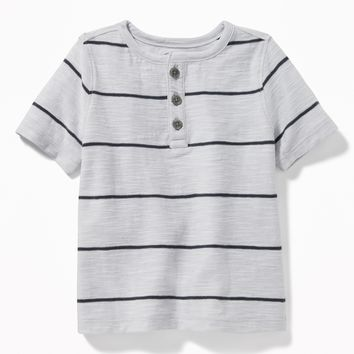 Striped Slub-Knit Henley for Toddler Boys | Old Navy