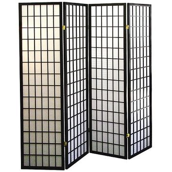 Shoji Style Room Divider with Wood Frame | Overstock.com Shopping - The Best Deals on Decorative Screens