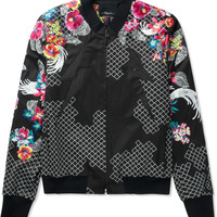 3.1 Phillip Lim Black New Wave Embroidered Zip Up Jacket | HYPEBEAST Store. Shop Online for Men's Fashion, Streetwear, Sneakers, Accessories
