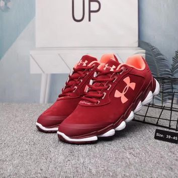 """Under Armour"" Unisex Casual Fashion Pig Leather Sneakers Couple Running Shoes"
