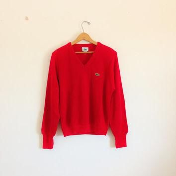 1980s1990s LACOSTE cherry grunge sweater by croatiavintage on Etsy