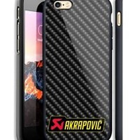 Top Akrapovic Logo Carbon Hard Case For iPhone 6 6+ 6s 6s+ 7 7+ 8 8+ X Cover