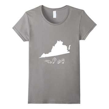 ASL - American Sign Language Virginia T shirt