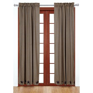 Navy Star Panel Curtains