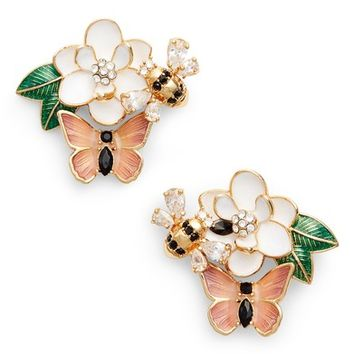 kate spade new york swamped cluster stud earrings | Nordstrom