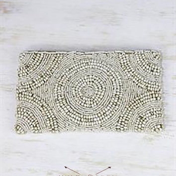 Clutch Beaded, Handed Beaded, Must-Have, Boho Style Clutch