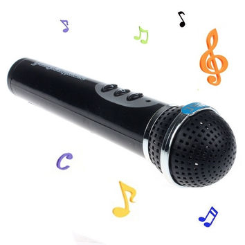 Girls Boys Microphone Mic Karaoke Singing Kid Funny Gift Music Toy (Size: 115 g, Color: Black) = 1945743428
