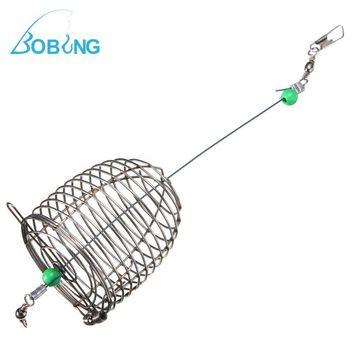Stainless Steel Wire Fishing Lure Bait Cage Ball Bearing Swivel Solid Rings Fishing Connector Fishing Accessory Tackle Box tool