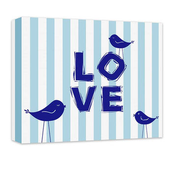 Love III with Little Birdies Children's Canvas Wall Art