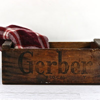 Gerber Wood Crate, Wood Crate, Rustic Wooden Crate, Old Wood Crate, Photography Prop