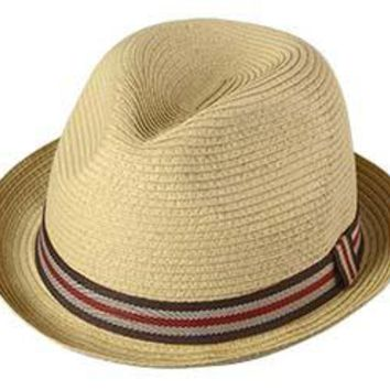 Perfect Gentleman Braid Fedora Hat by Broner
