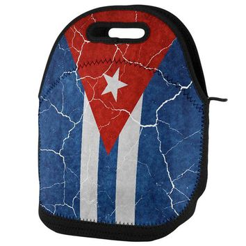 DCCKU3R Distressed Cuban Flag Lunch Tote Bag