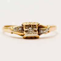 Vintage 1930's Art Deco Diamond Engagement Promise Ring