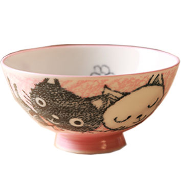 Baby Cat Design Multifunctional Creative Ceramic Bowl Cute Bowl