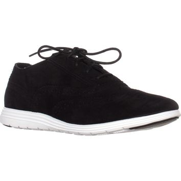 Cole Haan Grand Tour Oxford Sneakers, Black Suede/Black, 9.5 US