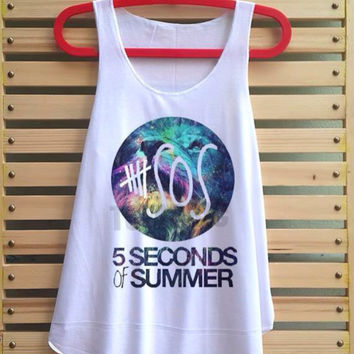 5SOS galaxy shirt 5 second of summer tshirt 5 SOS tank top singlet clothing vest tee tunic - size S M L