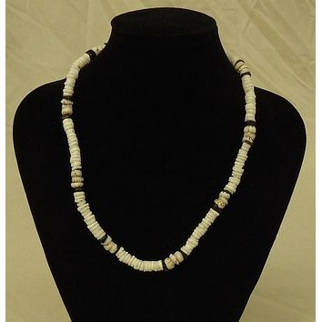 Shell Necklace Barrel Clasp 18 in Cute