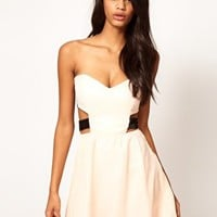 Paprika Chiffon Skater Dress With Sequin Straps at asos.com