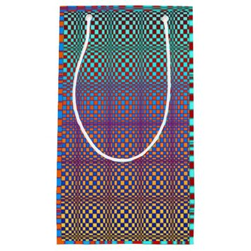 Abstract Squares 3 Small Gift Bag