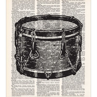 Snare Drum Dictionary Print