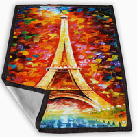 The colors of Eiffel Tower Blanket for Kids Blanket, Fleece Blanket Cute and Awesome Blanket for your bedding, Blanket fleece *