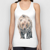 Bear Unisex Tank Top by Steve Panton