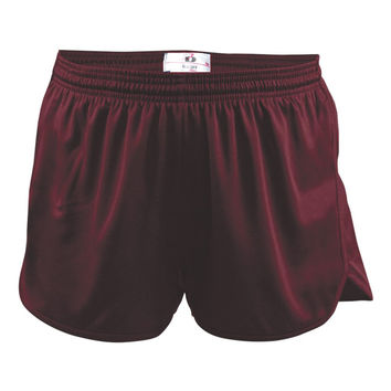 Badger 7272 B-Core Mens Track Short - Maroon