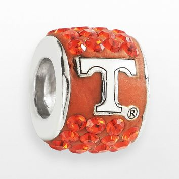 LogoArt Tennessee Volunteers Sterling Silver Crystal Logo Bead - Made with Swarovski Elements (Orange)